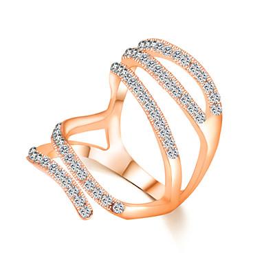 importere zircon krystall enkelt smykker kvinnelig kreativitet ring elegant stil