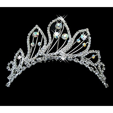 Crystal Rhinestone Tiaras Headwear with Floral 1pc Wedding Special Occasion Headpiece
