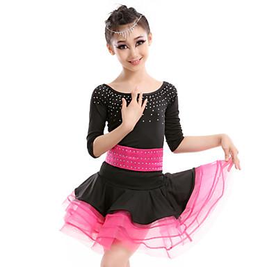 Latin tánc Ruhák Gyermek Teljesítmény Mlječna vlakna 2 darab Ruha Öv