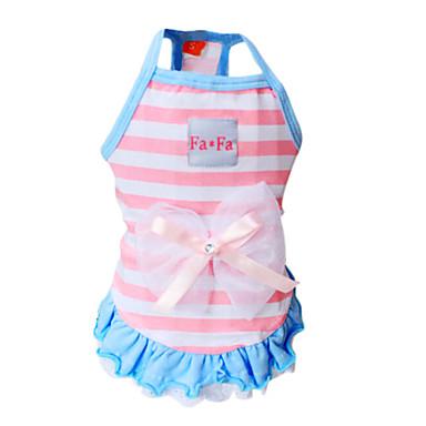 Pas T-majica Haljine Odjeća za psa Dungi Plava Pink Pamuk Kostim Za kućne ljubimce Žene Moda