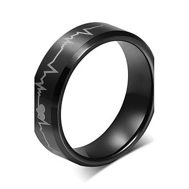 Prstenje Vjenčanje / Party / Dnevno / Kauzalni / Sport Jewelry Volfram čelik Prstenje sa stavom 1pc,6 / 7 / 8 / 9 / 10 / 11 / 12 Crna