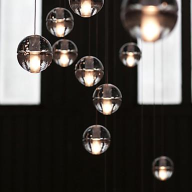 Creative Restaurant Engineering Stage Led Meteor Shower Crystal Ball Pendant Light Lamp LED(1pc)
