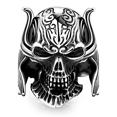 Herre Ring - Unikt design, Punk, Europeisk 8 / 9 / 10 Svart Til Halloween / Daglig / Avslappet
