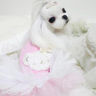 כלב שמלות בגדים לכלבים כחול ורוד כותנה תחפושות עבור חיות מחמד בגדי ריקוד גברים בגדי ריקוד נשים אופנתי