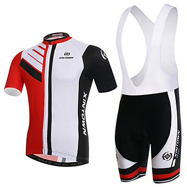 XINTOWN Cycling Jersey with Bib Shorts Men's Women's Unisex Short Sleeves Bike Clothing Suits Quick Dry Ultraviolet Resistant Breathable