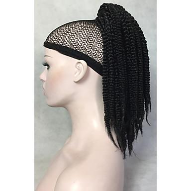 Poninhännät Synteettiset hiukset Hiuspalanen Hiusten pidennys Laineita Keskikokoinen