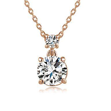 Riipus-kaulakorut Kristalli neljä piikit jäljitelmä Diamond Birthstones minimalistisesta Hopea Ruusukulta Korut Varten