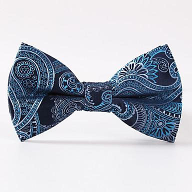festa dos homens / noite casamento azul paisley uma gravata borboleta formal