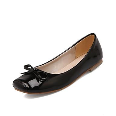 בגדי ריקוד נשים נעליים דמוי עור אביב / קיץ נוחות שטוח לבן / שחור / אדום / מסיבה וערב