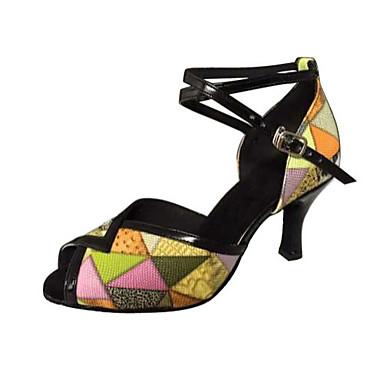 Damen Schuhe für den lateinamerikanischen Tanz / Salsa Tanzschuhe Kunstleder Sandalen Stöckelabsatz Keine Maßfertigung möglich Tanzschuhe