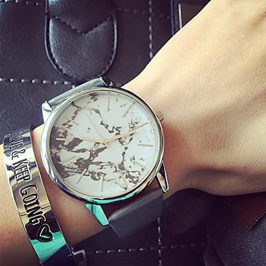Kadın's Moda Saat Bilezik Saat Quartz PU Bant Siyah Beyaz Gri Bej