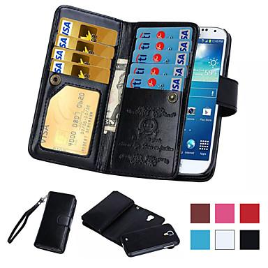 Para Samsung Galaxy Note Porta-Cartão / Carteira / Flip Capinha Corpo Inteiro Capinha Cor Única Couro PU Samsung Note 5 / Note 4 / Note 3