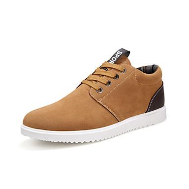 Herrn Schuhe Gummi Frühling Herbst Komfort Sneakers Quaste für Draussen Schwarz Grau Kamel