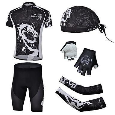 CHEJI® Biciklistička majica s kratkim hlačama Muškarci Kratki rukav BiciklProzračnost / Quick dry / Ultraviolet Resistant / Pad 3D /