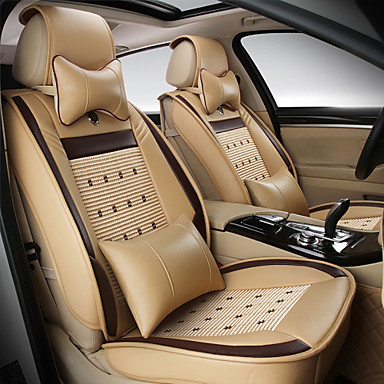 voordelige Auto-interieur accessoires-odeer autostoelbekleding, kunstlederen stoelhoezen waterdicht ademend 5 zetels volledige set voorkant achterkant - past op de meeste auto's, SUV's of bestelwagens