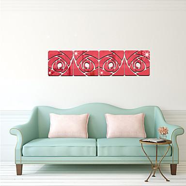 Botanical romanticismo specchi fashion floreale forma vintage 3d adesivi murali - Specchi adesivi da parete ...