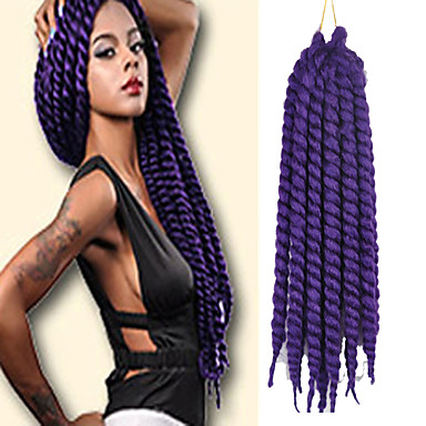 Purple Havana Twist Braids Hair Extensions 24inch Kanekalon 2 Strand