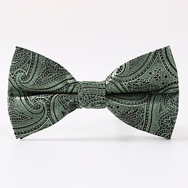 festa dos homens / casamento à noite paisley verde uma gravata de borboleta formal