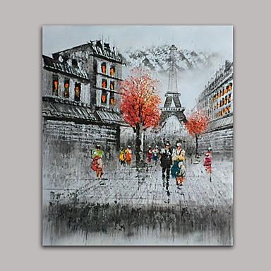 Maalattu Maisema Fantasy Leisure Pystysuora,Tyyli 1 paneeli Kanvas Hang-Painted öljymaalaus For Kodinsisustus
