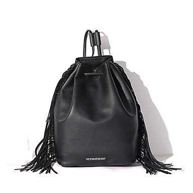 Női Táskák PU Válltáska Hátizsák Iskolatáska Kézitáska Gurulós bőrönd / kabinbőrönd mert Party Bevásárlás Hétköznapi Ősz Fekete