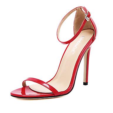 Mulheres Sapatos Couro Envernizado Verão Salto Agulha Preto / Vermelho / Amêndoa / Festas & Noite / Festas & Noite