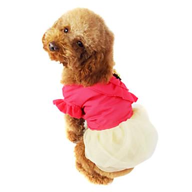 Cachorro Casacos Roupas para Cães Fashion Vermelho Verde Ocasiões Especiais Para animais de estimação