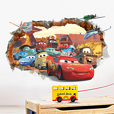 Muodot 3D Wall Tarrat Lentokone-seinätarrat Koriste-seinätarrat materiaali Irroitettava Kodinsisustus Seinätarra