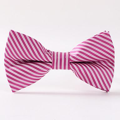 Herren Party / Abend Hochzeit Paisley rosa Streifen Fliege formal