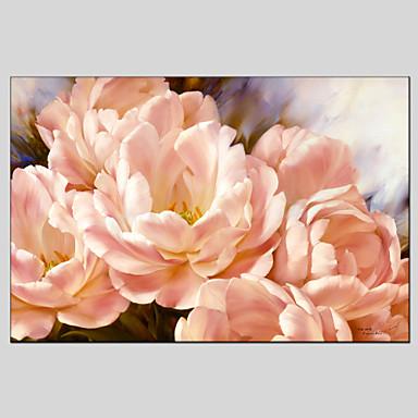 Pintados à mão Floral/BotânicoModerno Clássico Tradicional Estilo Europeu 1 Painel Tela Pintura a Óleo For Decoração para casa