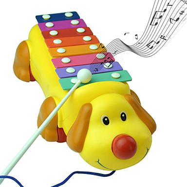 כלב חמוד צעצועי מוסיקת מכשירי פסנתר פעימה צבעונית מוזיקליים