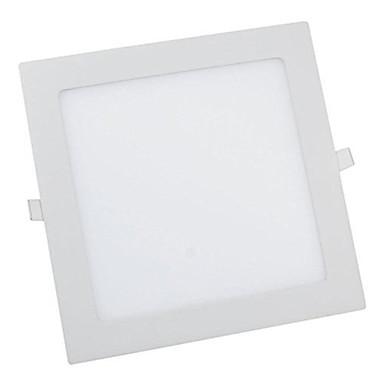 1 stück 12 watt quadratisch led panel licht 60 leds warm / kühles weiße farbe vertiefte panel beleuchtung ultradünne hinunter licht für hotel ac85-265v