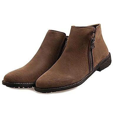 328540d5651 Zapatos de mujer-Tacón Bajo-Botas a la Moda-Botas-Exterior   Casual ...