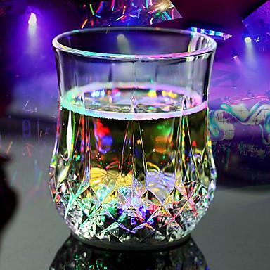 Glass Hverdags-drikkeredskaper Nyhet Drikkeredskaper Vannflasker Te & Varm Drikke Dekorasjon kjæreste gave 2 Kaffe Te Vand Juice