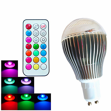 500lm GU10 LED Globe Bulbs A60(A19) 3 LED Beads High Power LED Dimmable Decorative Remote-Controlled RGB 100-240V