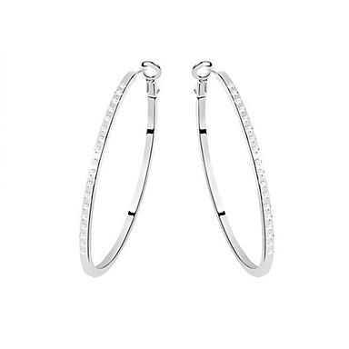 Naušnica Okrugle naušnice Jewelry 1set Legura / Umjetno drago kamenje Žene Crna / Bijela