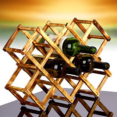 10 üveg szeres pulton bor rack készült 100% tömörfa, modern kialakítás az egyszerű szabadon álló asztallap tárolás