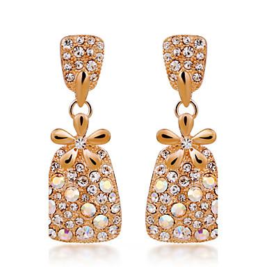 נשים עגילי טיפה קריסטל אבני מזלות סגסוגת תכשיטים עבור חתונה Party יומי קזו'אל