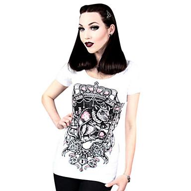 97d2b77c2c18 Μπλούζα Πουκάμισο Κλασσική Παραδοσιακή Lolita Cosplay Φορέματα Λολίτα Μαύρο  Στάμπα Φανέλα Για Γυναικεία Λύκρα