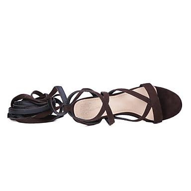 de Chaussures Rubans club 05684258 Marron Bottier Similicuir Bleu Sandales Femme Noir Talon Bout de ouvert Chaussures Lacet Cheville Bride Cfqw0pxt