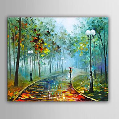 Handgemalte Landschaft Horizontal, Europäischer Stil Segeltuch Hang-Ölgemälde Haus Dekoration Ein Panel