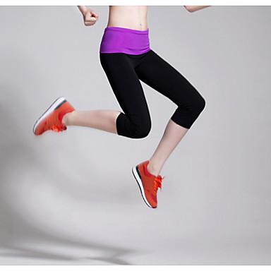 Női Futás Leggingek 3/4 Tights Alsók Légáteresztő Rastezljivo Upijanje znoja Tömörítés Tavasz Nyár ŐszJóga Pilates Fitnessz Szabadidős