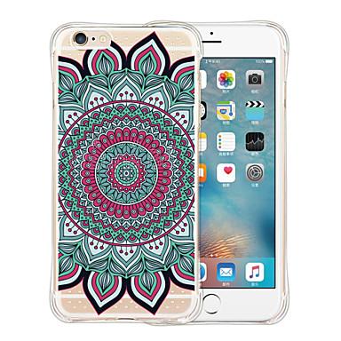 Etui Käyttötarkoitus iPhone 6 iPhone 6 Plus Iskunkestävä Läpinäkyvä Kuvio Takakuori Mandala Pehmeä Silikoni varten iPhone 6s Plus iPhone