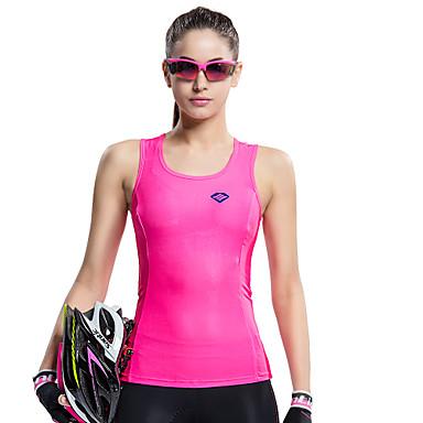SANTIC Damen Ärmellos Fahrradweste - Rosa Fahhrad Weste/Fahrradweste Trikot/Radtrikot, Rasche Trocknung, UV-resistant, Atmungsaktiv