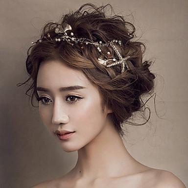 Gold Seefisch Stirnband Stirnhaarschmucksachen für Hochzeit Partei Frauen