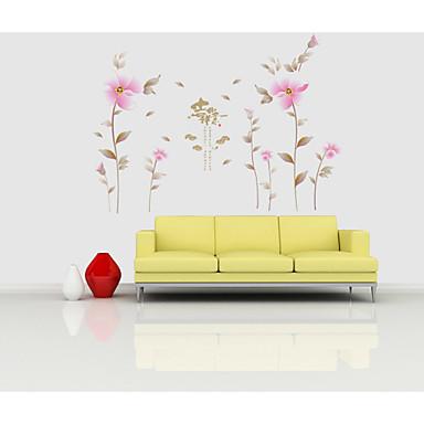 Paisagem Floral Botânico Adesivos de Parede Autocolantes de Aviões para Parede Autocolantes de Parede Decorativos, PVC Decoração para casa