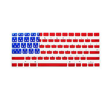 teste padrão da bandeira nacional idioma Inglês pele tampa do teclado de silicone para MacBook Air / MacBook Pro 13 15 17 polegadas nos
