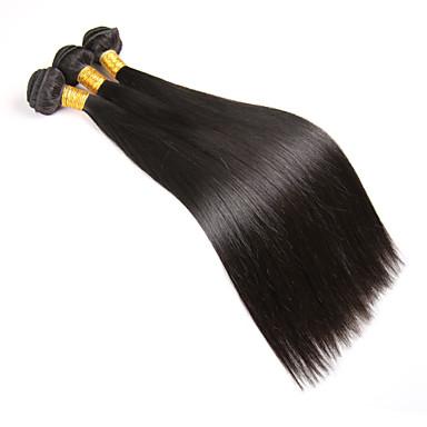 Człowieka splotów włosów Włosy brazylijskie Düz 6 miesięcy 1 sztuka sploty włosów