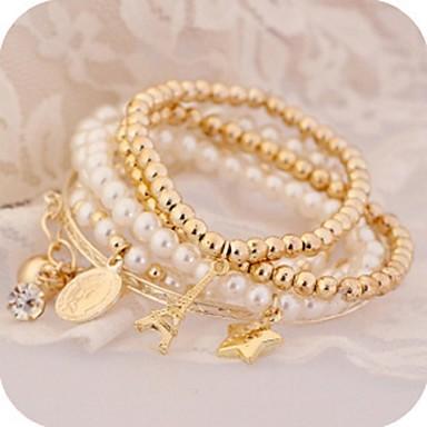 abordables Bracelet-Bracelet Jonc Femme Strass dames Charme unique Rétro Vintage Soirée Travail Bracelet Bijoux Dorée pour Soirée Cadeau Valentin
