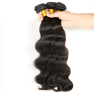 Cabelo Brasileiro Ondulado Cabelo Humano Ondulado Tramas de cabelo humano Preto Natural