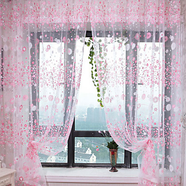 Stanglomme Et panel Window Treatment Land, Trykk Stue Polyester Materiale Gardiner Skygge Hjem Dekor